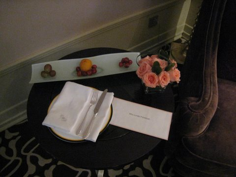 A delicious welcome at the Langham!  Photo by mjb2009