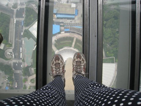 mjb is standing on top of the world in the Shanghai Pearl Tower!  Photo by mjb2009