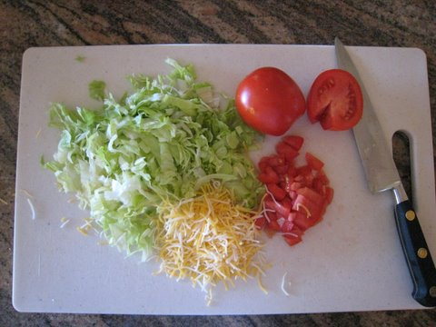 Cut up the veggie & cheese accoutrement!  Photo by mjb2009