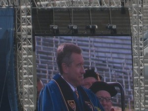 Brian Williams of NBC Nightly News Rocked the Commencement Address! Photo by mjb2010