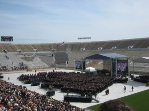 Commencement in the ND Stadium! A First in Many, Many Years! Photo by mjb2010