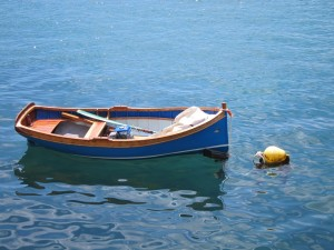 A little boat afloat in the bay of Malta. Photo by mjb2011