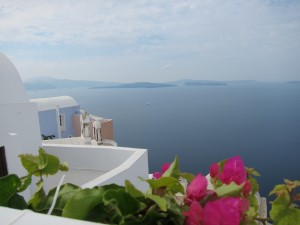 A Hilltop with a View in Santorini. Photo by mjb2011