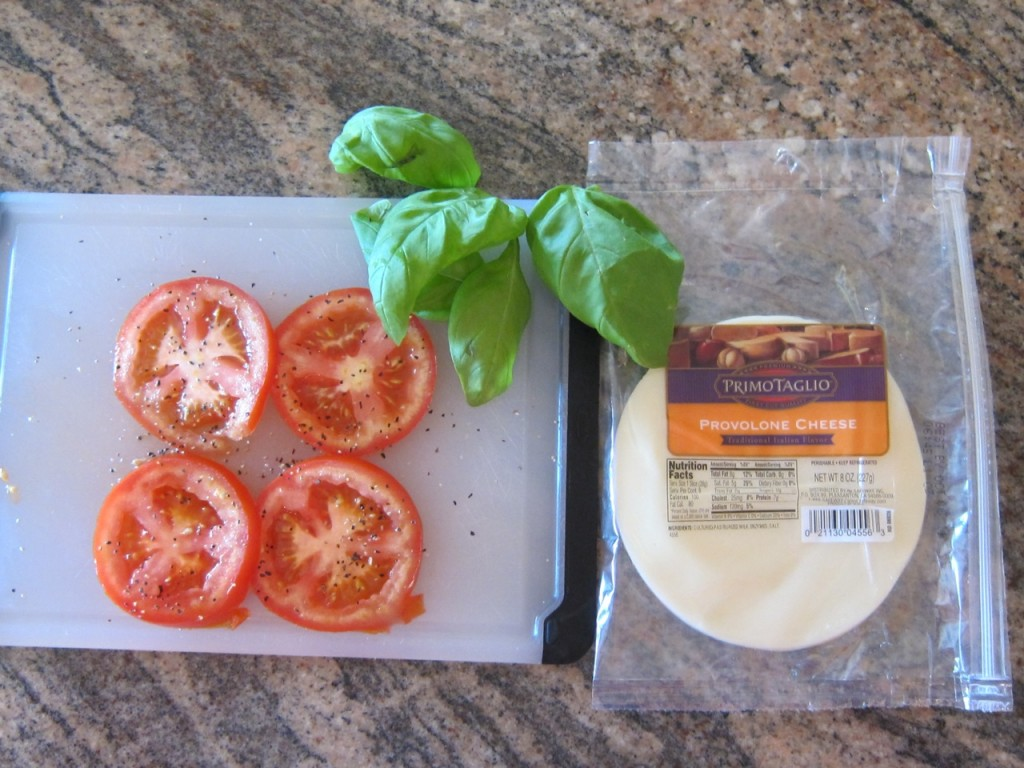 Simple Ingredients: Tomatoes! Provolone! Basil! Photo by mjb2011