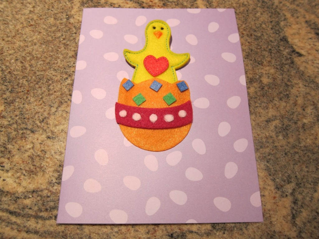 """Happy chickie says """"Happy Easter""""!!!"""