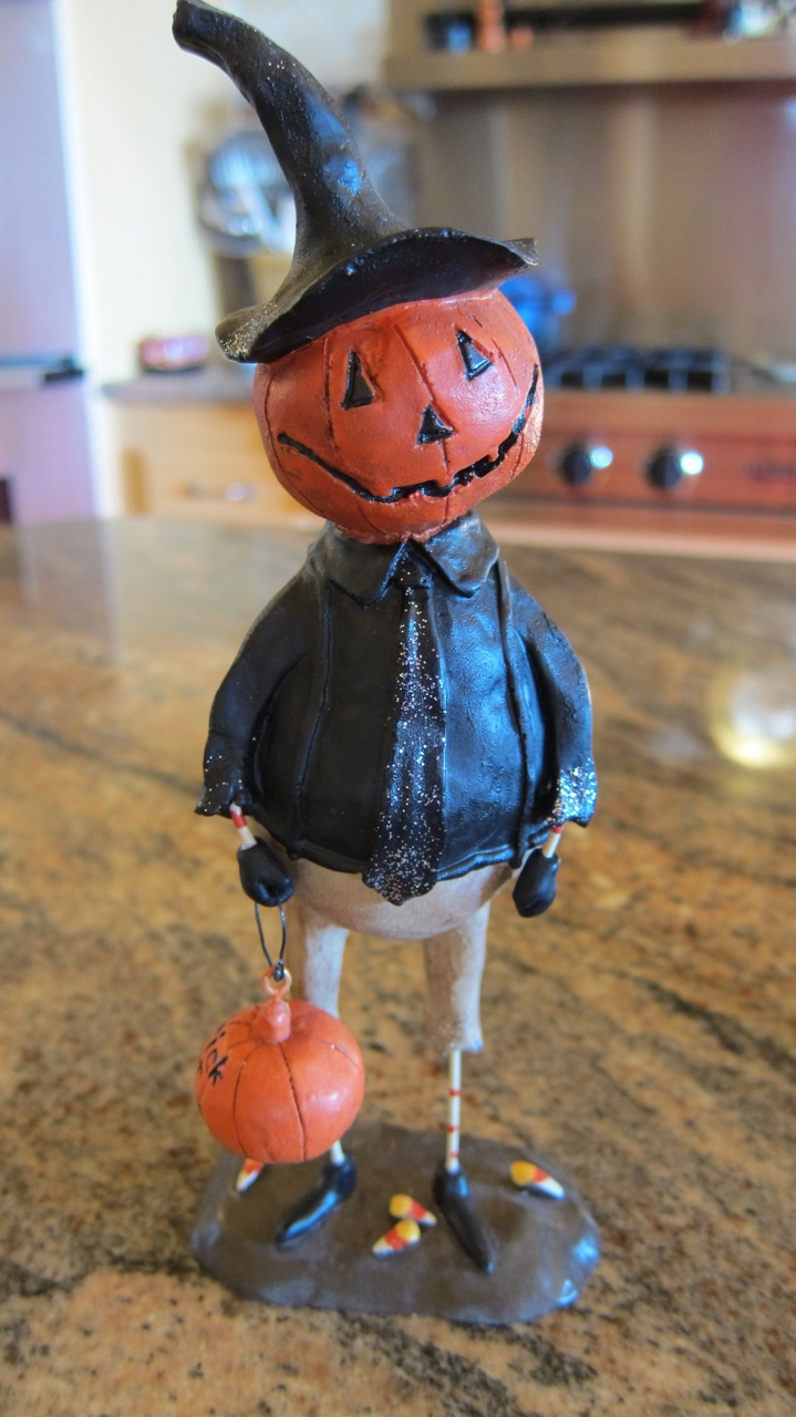 "Halloweenie Pumpkin Man says ""Happy Halloween!"" Photo by mjb2012"