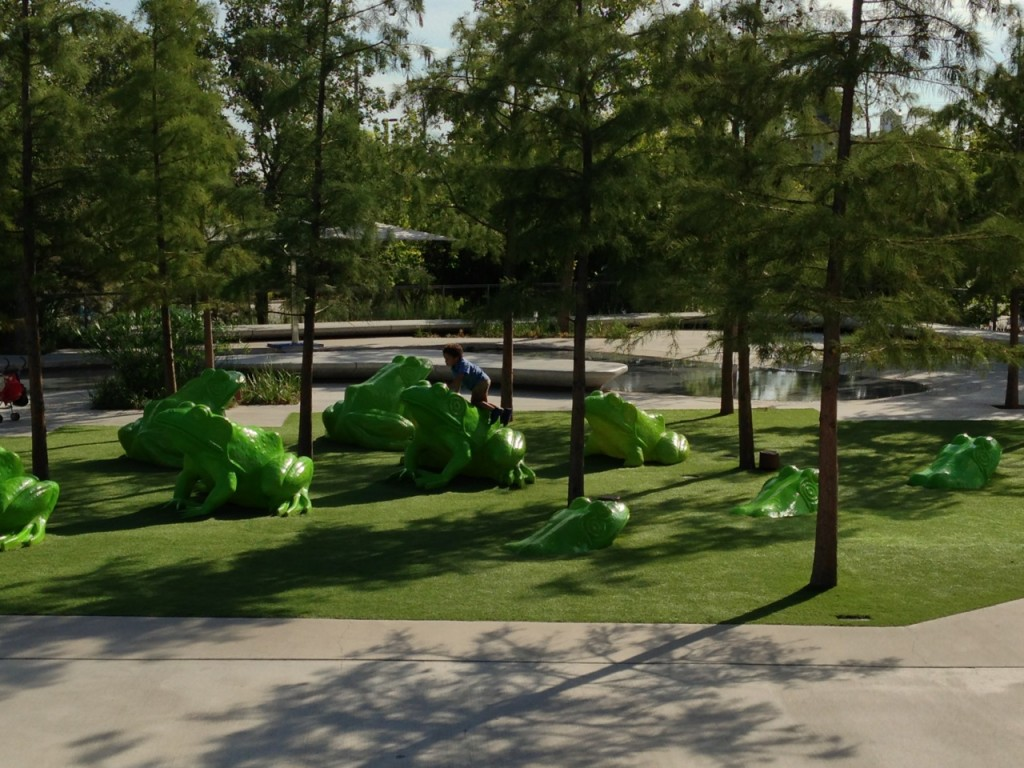 After perusing the Perot, play around with the green ones! Leap Frog has never been so literal! Photo by mjb2013