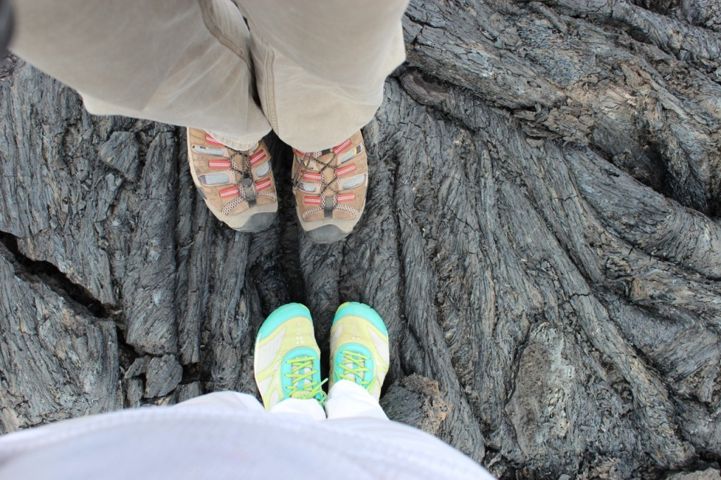Lava flows: Crunchy Underfoot! Photo by mjb2013