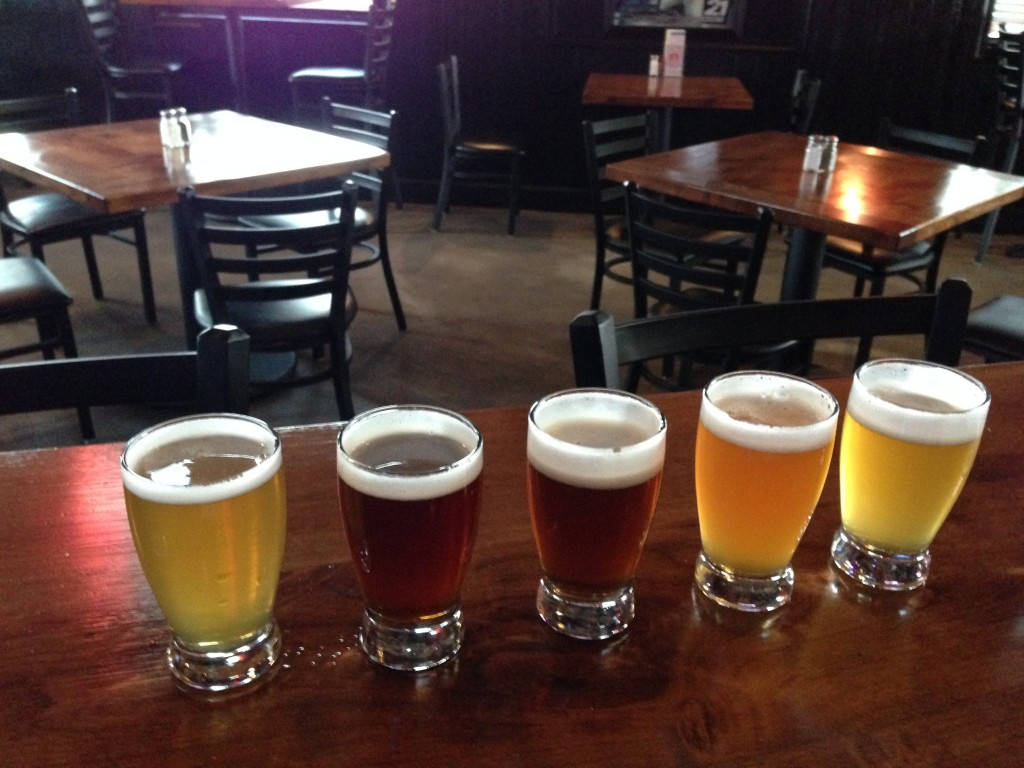 Riverbend Brewing Company Offerings! Photo by mjb2014